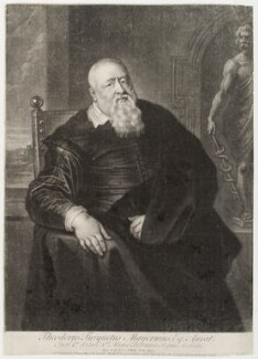Sir Theodore Turquet de Mayerne, by John Simon, after  Sir Peter Paul Rubens - NPG D19704