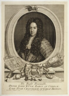 Peter King, 1st Baron King of Ockham, by George Vertue, published by  John Curson, 1725 - NPG D19724 - © National Portrait Gallery, London