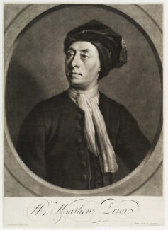 Matthew Prior, by and published by John Simon, after  Jonathan Richardson - NPG D19725