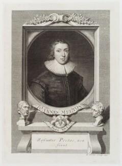 John Milton, by George Vertue, 1731 - NPG D19726 - © National Portrait Gallery, London