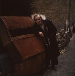 Max Wall as Davies in Harold Pinter's 'The Caretaker', by Paul Joyce, November 1977 - NPG x13443 - © Paul Joyce / National Portrait Gallery, London