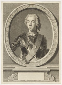 Prince Charles Edward Stuart, by Jean Daullé, after  Domenico Duprà - NPG D16608