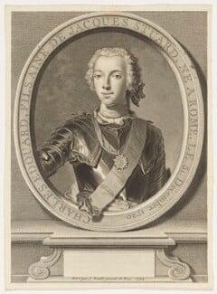 Prince Charles Edward Stuart, by Jean Daullé, after  Domenico Duprà, 1744 - NPG D16608 - © National Portrait Gallery, London
