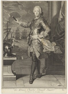 Prince Charles Edward Stuart, by Nicolas Jean Baptiste Poilly, after  Domenico Duprà - NPG D16610