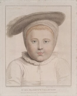 King Edward VI, by Francesco Bartolozzi, published by  John Chamberlaine, after  Hans Holbein the Younger - NPG D19757