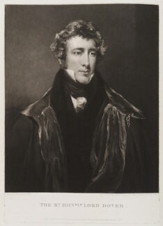 George Agar-Ellis, 1st Baron Dover, by William Ward, published by  Paul and Dominic Colnaghi & Co, after  John Jackson - NPG D19774