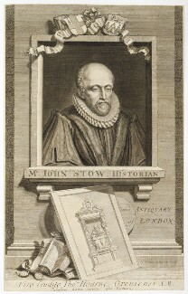 John Stow, by George Vertue - NPG D19779