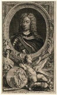John Churchill, 1st Duke of Marlborough, by John Sebastian Miller (formerly Johann Sebastian Müller), after  Sir Godfrey Kneller, Bt - NPG D16638