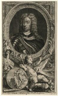 John Churchill, 1st Duke of Marlborough, by Johann Sebastian Müller, after  Sir Godfrey Kneller, Bt - NPG D16638