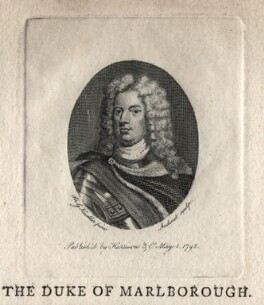 John Churchill, 1st Duke of Marlborough, by Philipp Audinet, published by  Harrison & Co, after  Sir Godfrey Kneller, Bt - NPG D16639