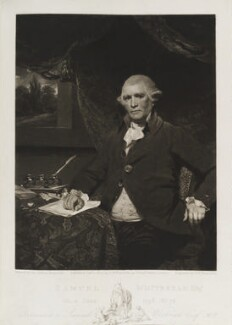 Samuel Whitbread the Elder, by and published by Samuel William Reynolds, after  Sir Joshua Reynolds - NPG D19792