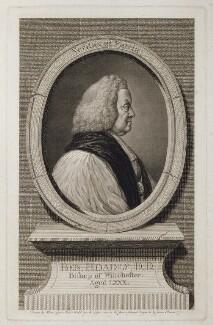 Benjamin Hoadly, by James Basire, after  Nathaniel Hone, after  Isaac Gosset - NPG D19794