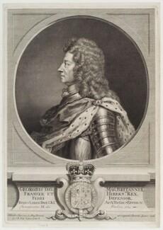 King George I, probably by François Chéreau the Elder, after  Sir Godfrey Kneller, Bt, circa 1714 - NPG D19804 - © National Portrait Gallery, London