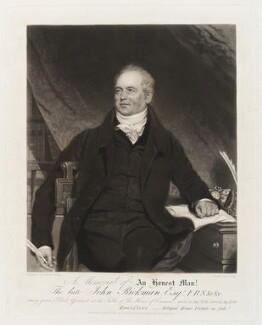 John Rickman, by Samuel Bellin, after  Samuel Lane, published 4 December 1843 (circa 1831) - NPG D19805 - © National Portrait Gallery, London