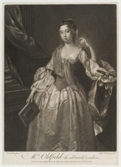 Anne Oldfield, by Edward Fisher, published by  John Spilsbury, after  Jonathan Richardson - NPG D19806