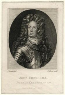 John Churchill, 1st Duke of Marlborough, by R. Clamp, after  Silvester (Sylvester) Harding, after  Sir Godfrey Kneller, Bt - NPG D16642