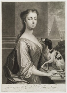 Mary Montagu (née Churchill), Duchess of Montagu, by John Simon, published by  Edward Cooper, after  Charles D'Agar, circa 1700-1725 - NPG D19841 - © National Portrait Gallery, London