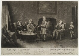 'A winter evening's conversation', by and published by John Simon - NPG D19847