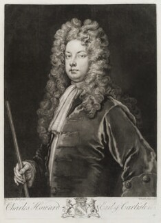 Charles Howard, 3rd Earl of Carlisle, by John Faber Jr, after  Sir Godfrey Kneller, Bt - NPG D19851