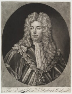 Robert Walpole, 1st Earl of Orford, by Unknown engraver,  - NPG D19854 - © National Portrait Gallery, London