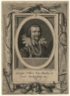 George Villiers, 1st Duke of Buckingham, after Cornelius Johnson (Cornelius Janssen van Ceulen) - NPG D16667