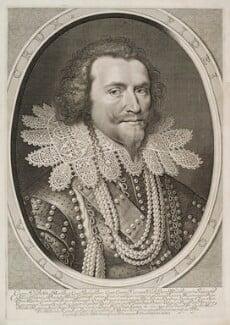 George Villiers, 1st Duke of Buckingham, by Willem Jacobsz Delff, after  Michiel Jansz. van Miereveldt, published 1626 - NPG D19862 - © National Portrait Gallery, London