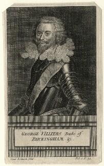 George Villiers, 1st Duke of Buckingham, after Cornelius Johnson (Cornelius Janssen van Ceulen) - NPG D16668