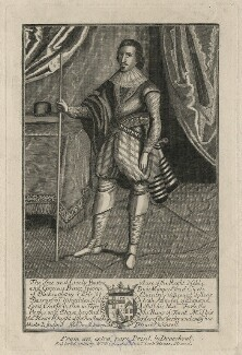 George Villiers, 1st Duke of Buckingham, after Martin Droeshout, after  Unknown artist - NPG D16669