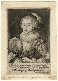 Katherine Villiers (née Manners, later MacDonnell), Duchess of Buckingham, by Magdalena de Passe - NPG D16671