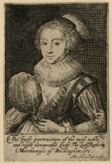 Katherine Villiers (née Manners, later MacDonnell), Duchess of Buckingham, by Magdalena de Passe - NPG D16672