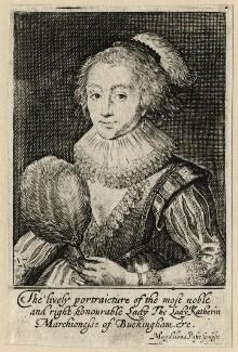 Katherine Villiers (née Manners, later MacDonnell), Duchess of Buckingham, by Magdalena de Passe, circa 1620-1623 - NPG D16673 - © National Portrait Gallery, London