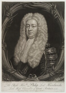 Philip Yorke, 1st Earl of Hardwicke, by John Faber Jr, published by  Robert Sayer, published by  Robert Withy, published by  John Ryall - NPG D19871