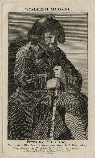Peter the Wild Boy, published by C. Johnson, after  Unknown artist - NPG D16685