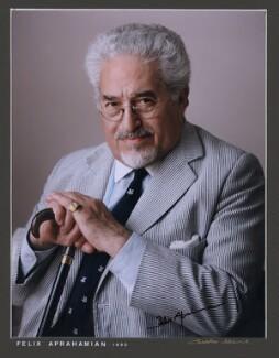 Felix Aprahamian, by Charles Adams, 1990 - NPG x87078 - © estate of Charles Adams