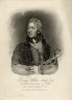 George William Manby, by Thomas Blood, published by  James Asperne, after  Samuel Lane - NPG D16709
