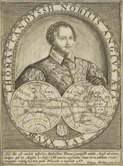 Thomas Cavendish, by Jodocus Hondius, circa 1590-1592 - NPG 6677 - © National Portrait Gallery, London