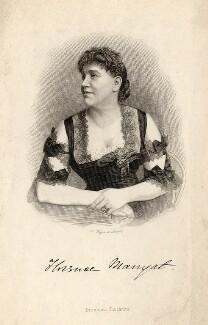 Florence Marryat, by August Weger, after  Unknown artist - NPG D16711