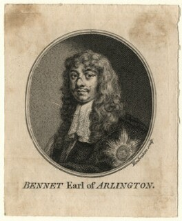 Henry Bennet, 1st Earl of Arlington, by Jacobus Houbraken, after  Sir Peter Lely - NPG D16724