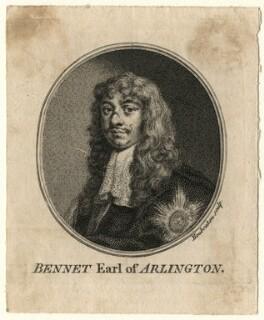 Henry Bennet, 1st Earl of Arlington, by Jacobus Houbraken, after  Sir Peter Lely, published 1757 - NPG D16724 - © National Portrait Gallery, London
