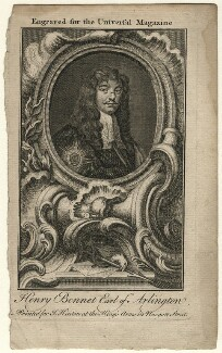 Henry Bennet, 1st Earl of Arlington, after Sir Peter Lely - NPG D16726