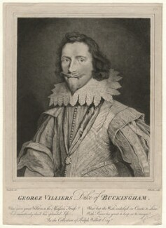 George Villiers, 1st Duke of Buckingham, by William Baillie, after  Daniel Mytens - NPG D16717