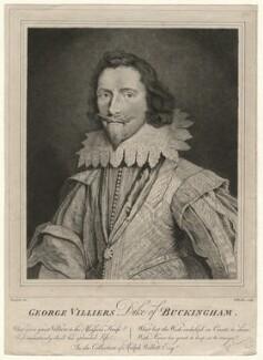 George Villiers, 1st Duke of Buckingham, by William Baillie, after  Daniel Mytens - NPG D16717