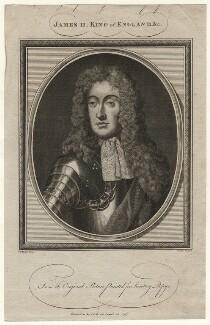 King James II, by John Goldar, after  Sir Godfrey Kneller, Bt - NPG D16731