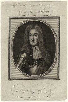 King James II, by John Goldar, after  Sir Godfrey Kneller, Bt - NPG D16730