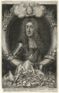 King James II, by George Vertue, after  Sir Godfrey Kneller, Bt - NPG D16728