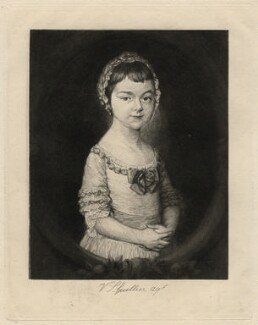 Georgiana Cavendish (née Spencer), Duchess of Devonshire, by Victor Gustave Lhuillier, after  Thomas Gainsborough - NPG D16749