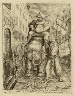 'Carlo Khan's triumphal entry into Leadenhall Street', by James Sayers, published by  Thomas Cornell - NPG D16765