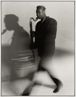 Courtney Pine, by Liam Woon, 5 August 1988 - NPG x126762 - © Liam Woon / National Portrait Gallery, London