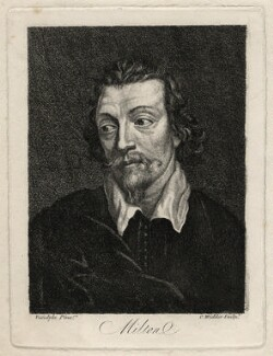 John Milton, by C. Widder, after  Peter Vandyke - NPG D16769