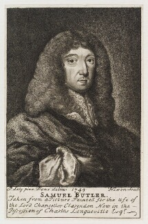 Samuel Butler, by John Nixon, after  Sir Peter Lely, published 1750 (1749) - NPG D19909 - © National Portrait Gallery, London